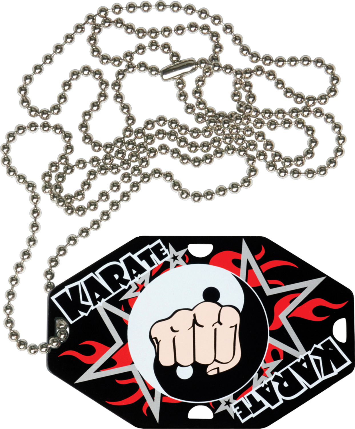 "2-1/2"" x 1-1/2"" Karate Dog Tag w/Chain 41323-G"