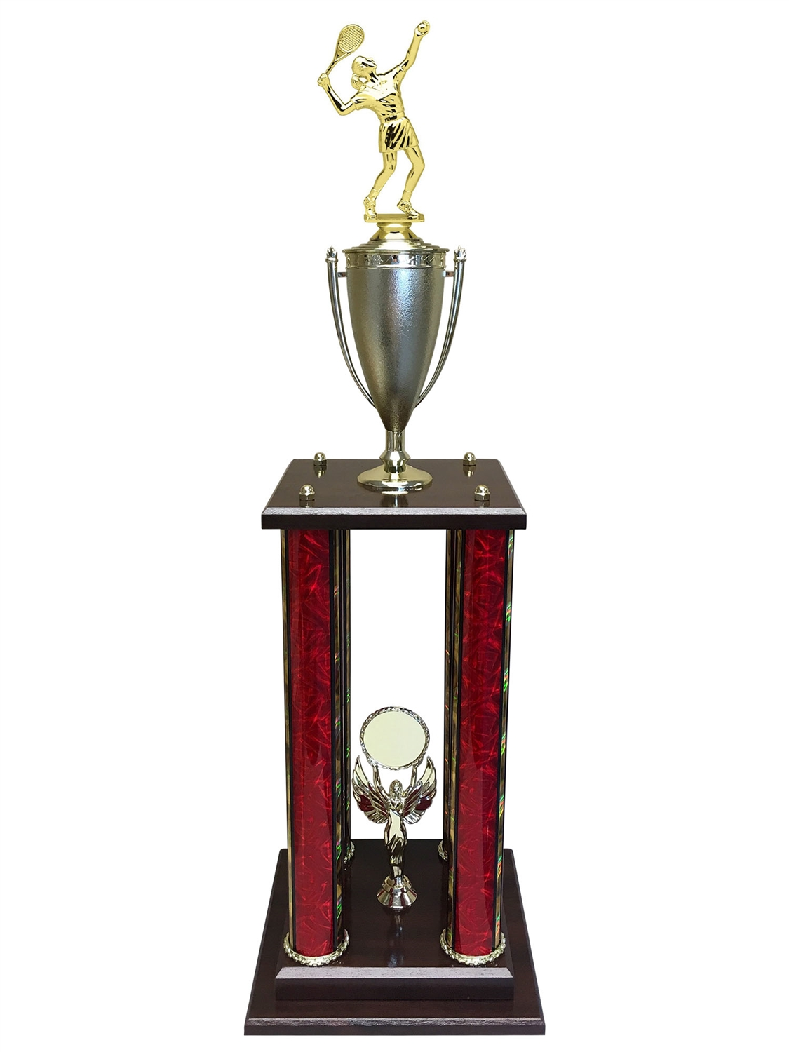 Female Tennis Trophy Available in 11 colors & 3 sizes