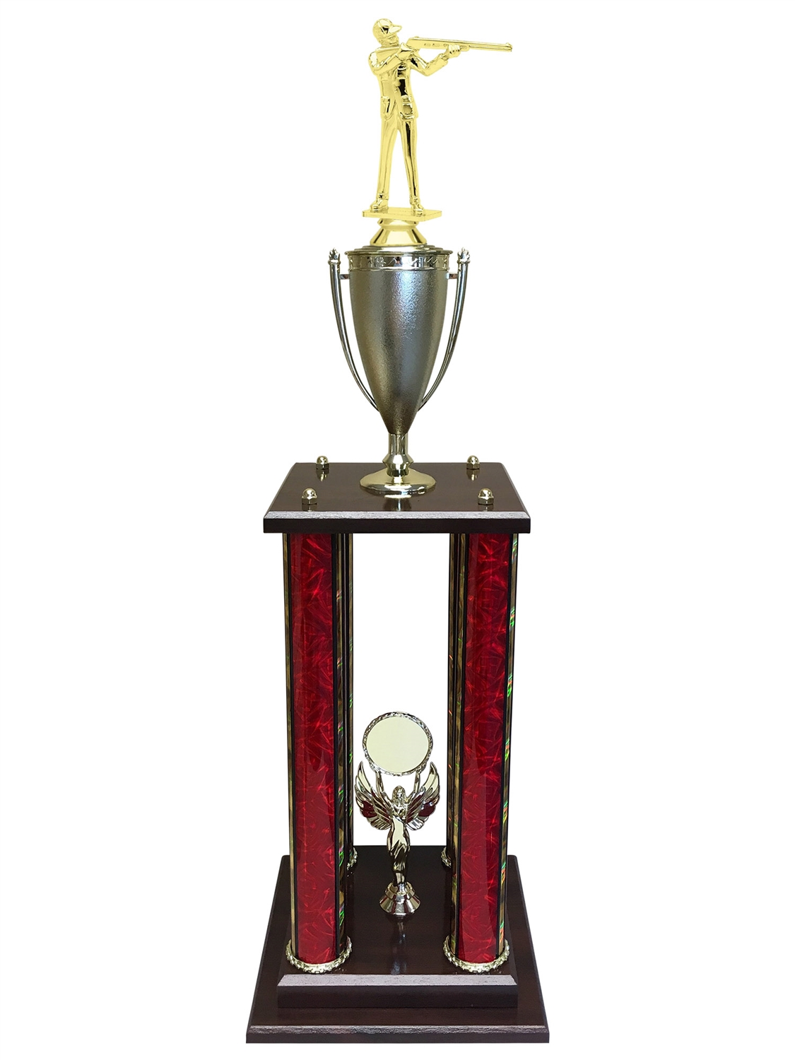 Trap Skeet Shooting Trophy Available in 11 colors & 3 sizes