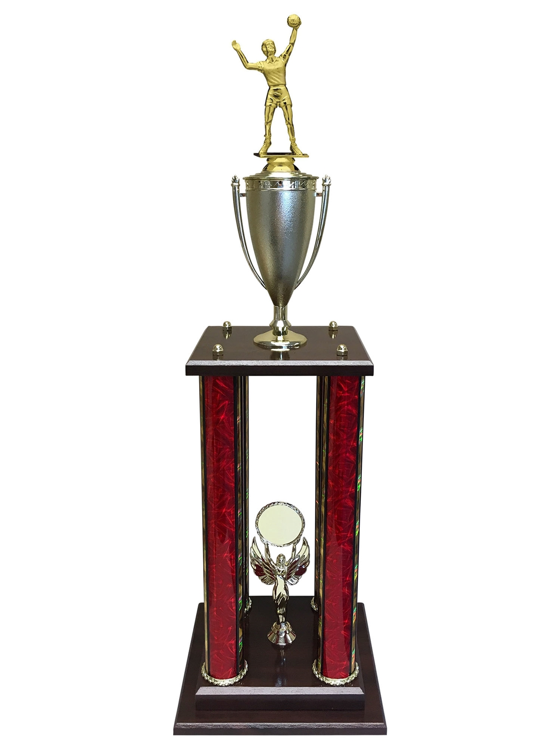 Female Volleyball Trophy Available in 11 colors & 3 sizes