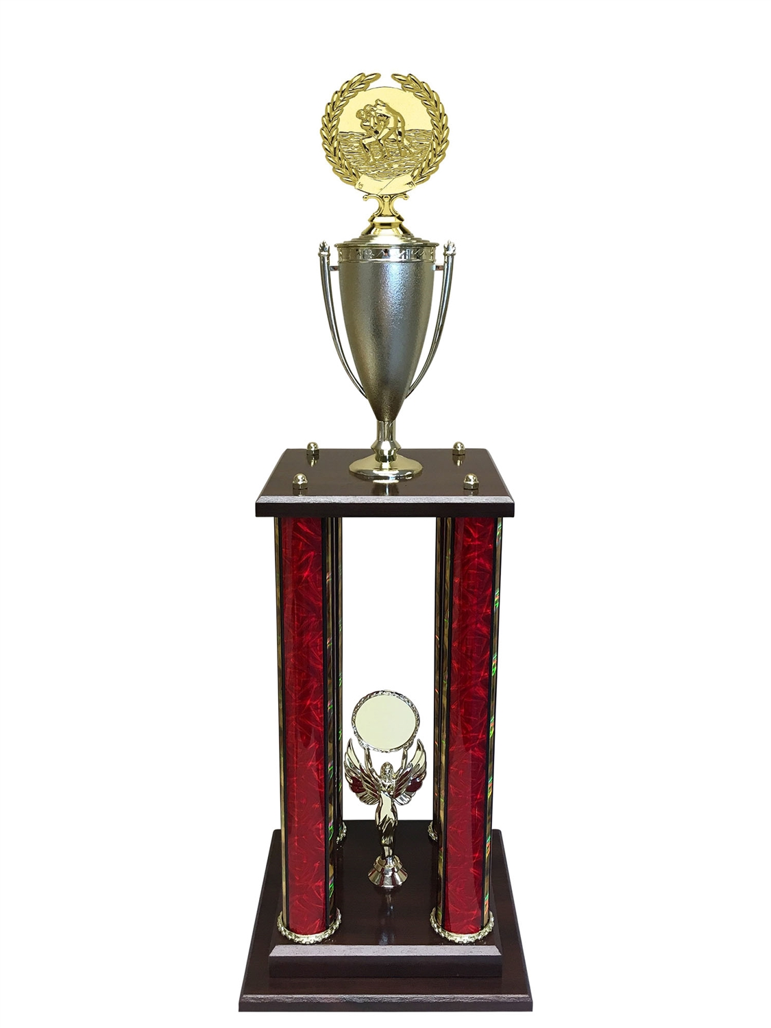 4 Post Wrestling Trophy in 11 colors & 3 sizes