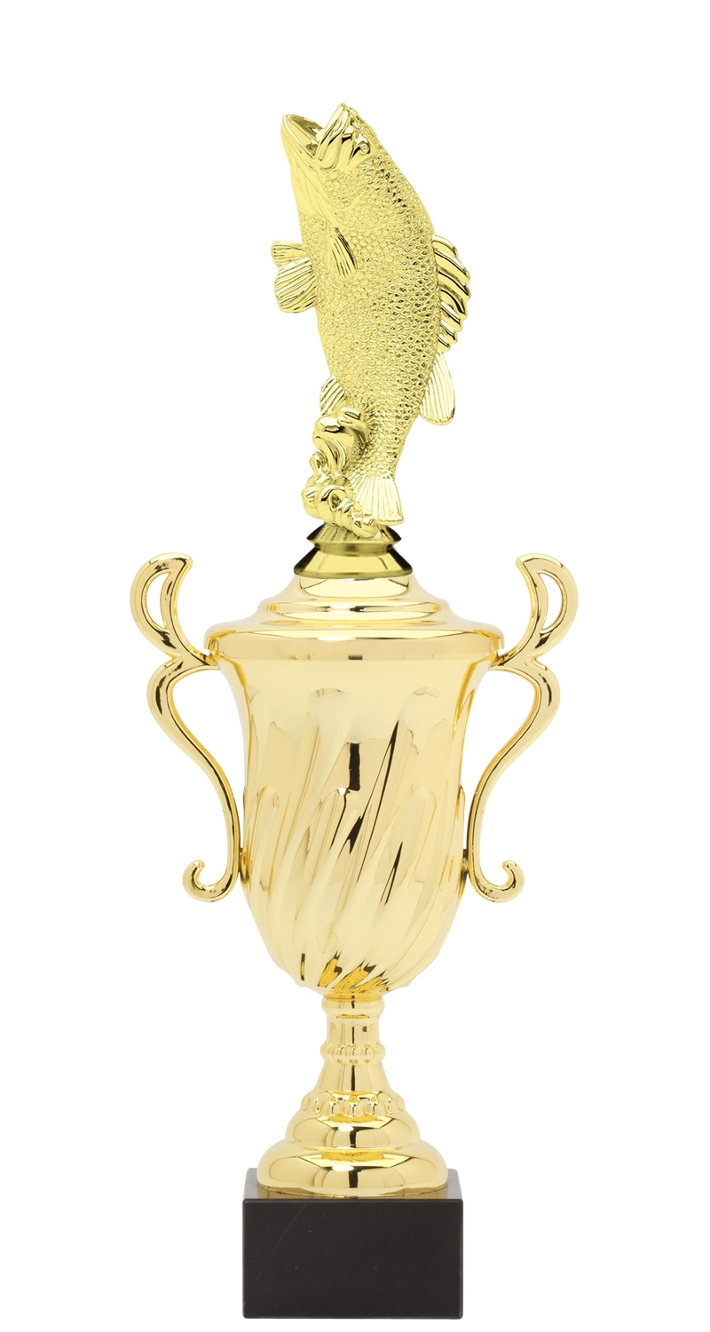 Bass Trophy Cup on synthetic base in (3 - Sizes)
