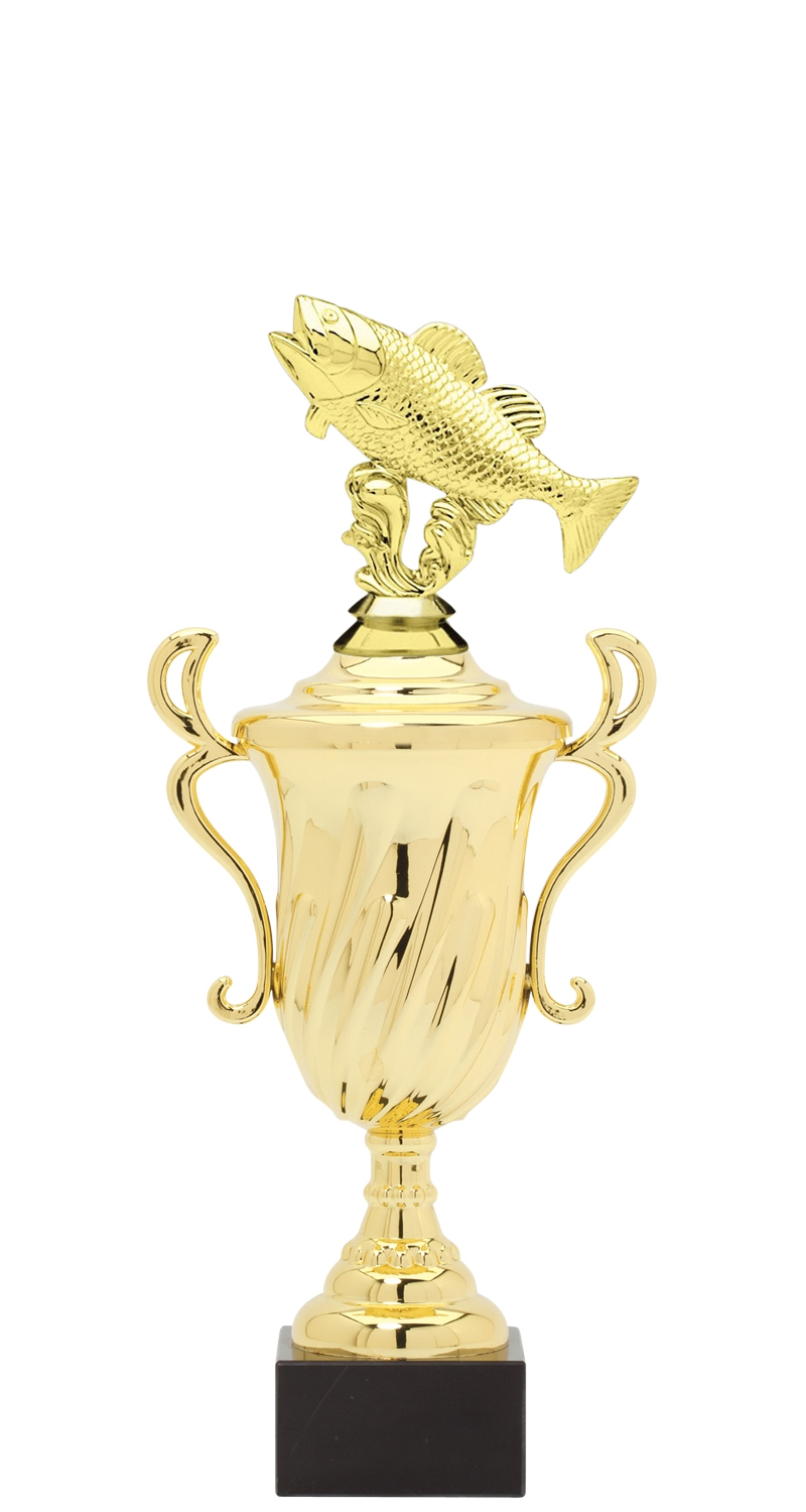 Fishing Trophy Cup on synthetic base in (3 - Sizes)