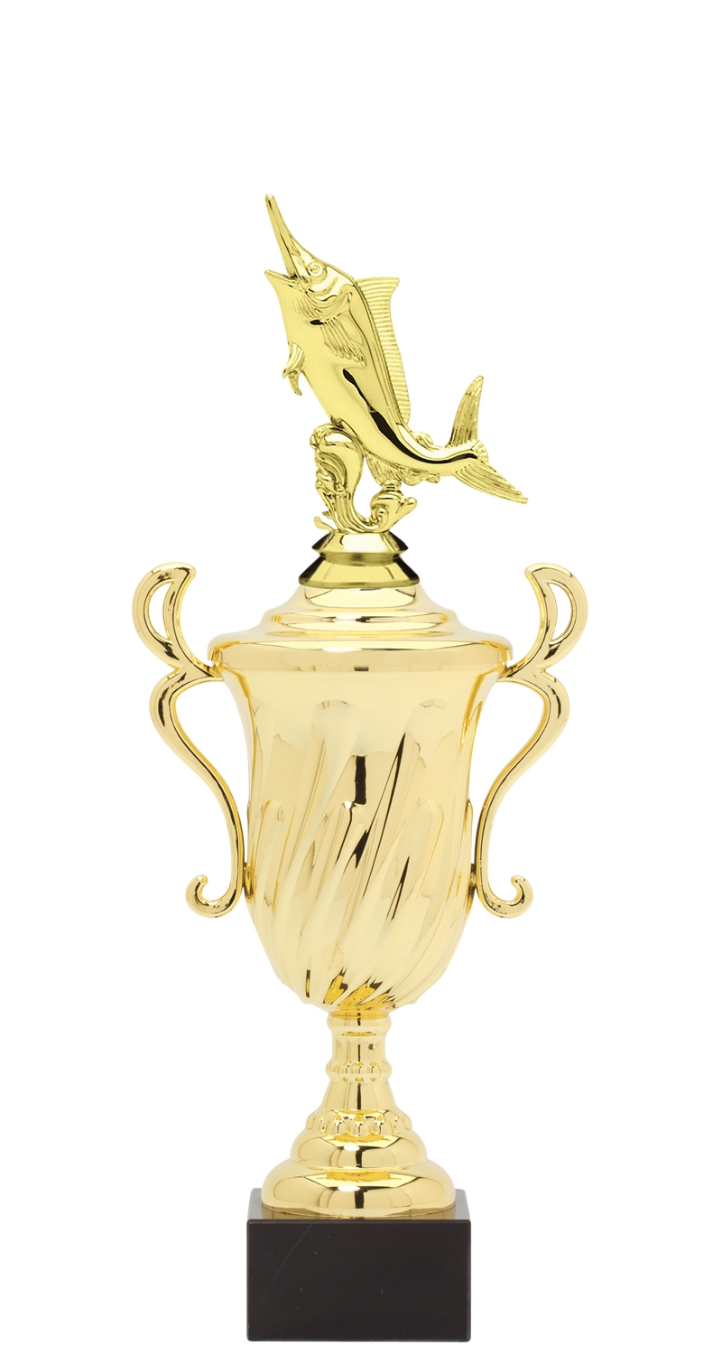 Marlin Trophy Cup on synthetic base in (3 - Sizes)