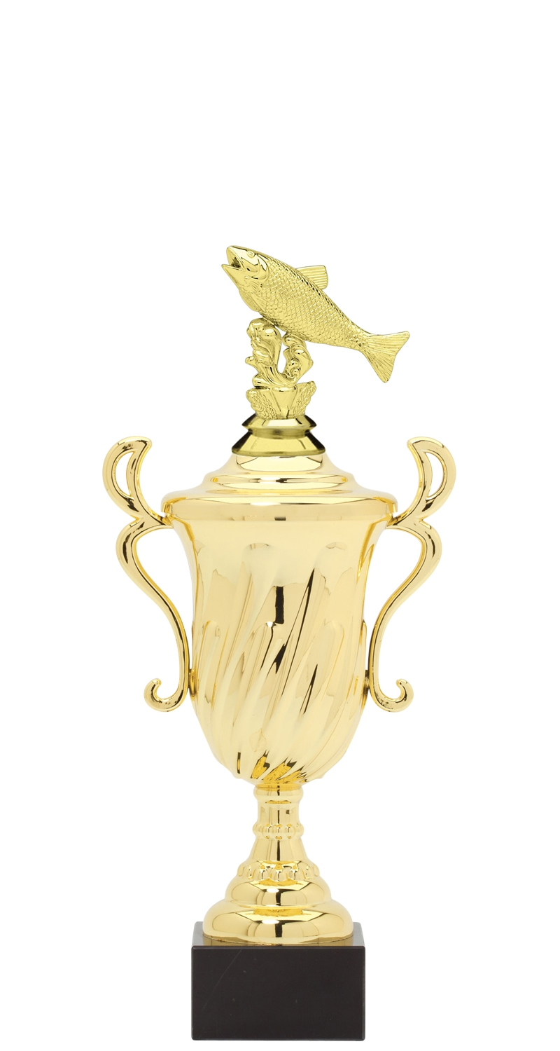 Salmon Trophy Cup on synthetic base in (3 - Sizes)