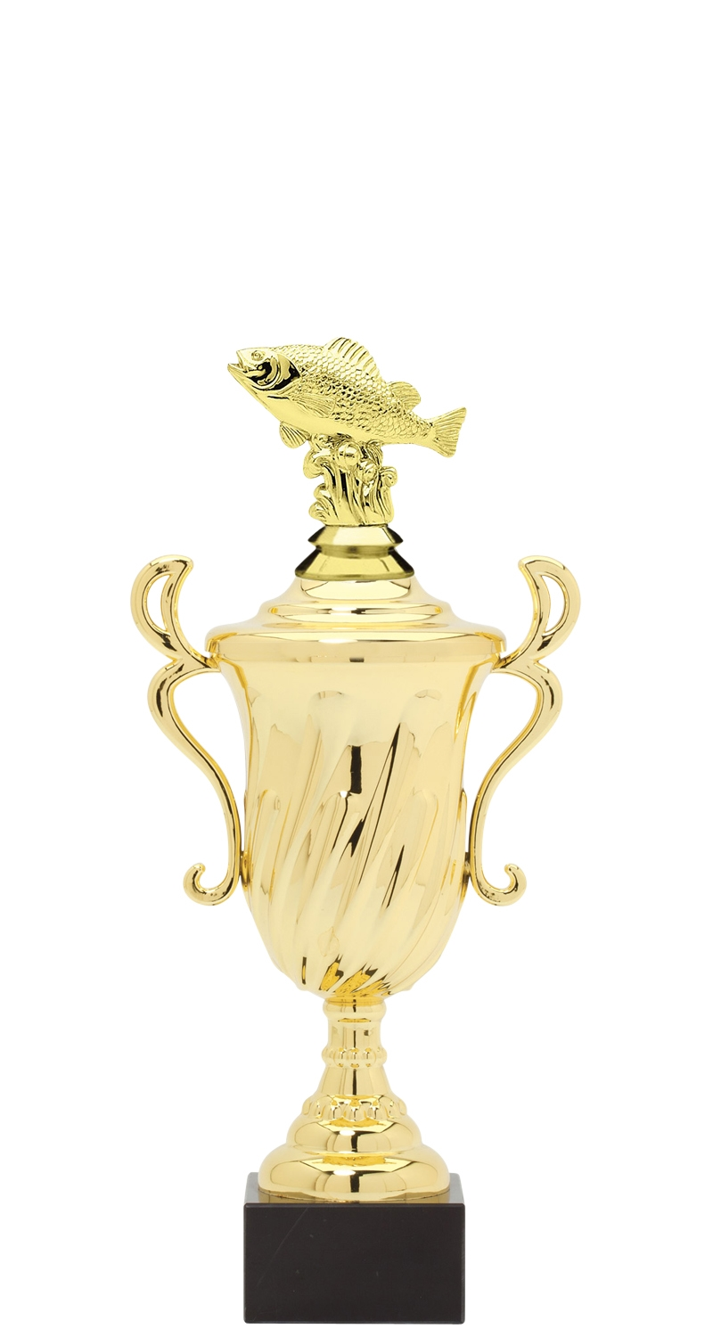 Perch Trophy Cup on synthetic base in (3 - Sizes)