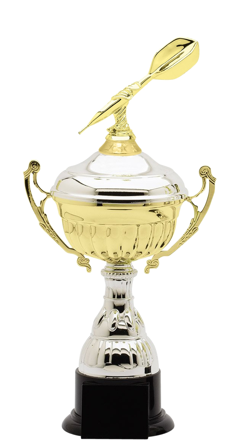 Metal Darts Trophy Cup on Synthetic Base in (3 - Sizes)