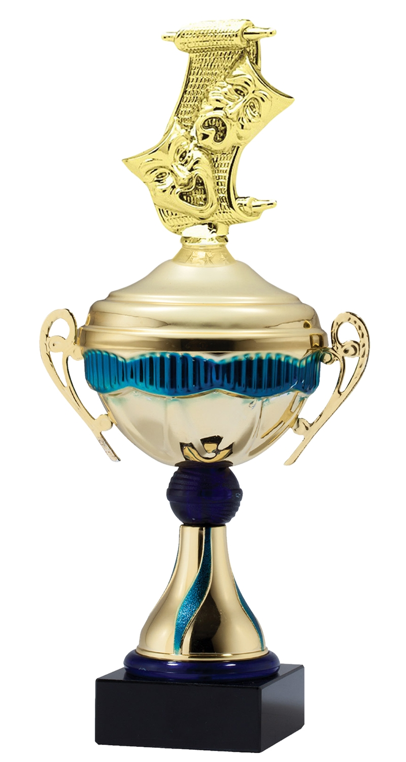 Metal Drama Trophy Cup on Marble Base in (3 - Sizes)
