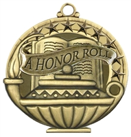 "2"" APM Academic A Honor Roll Medal APM736"