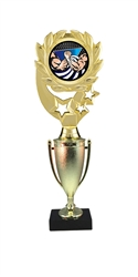 "12"" Cup Column Wreath Full Color Arm Wrestling Trophy"