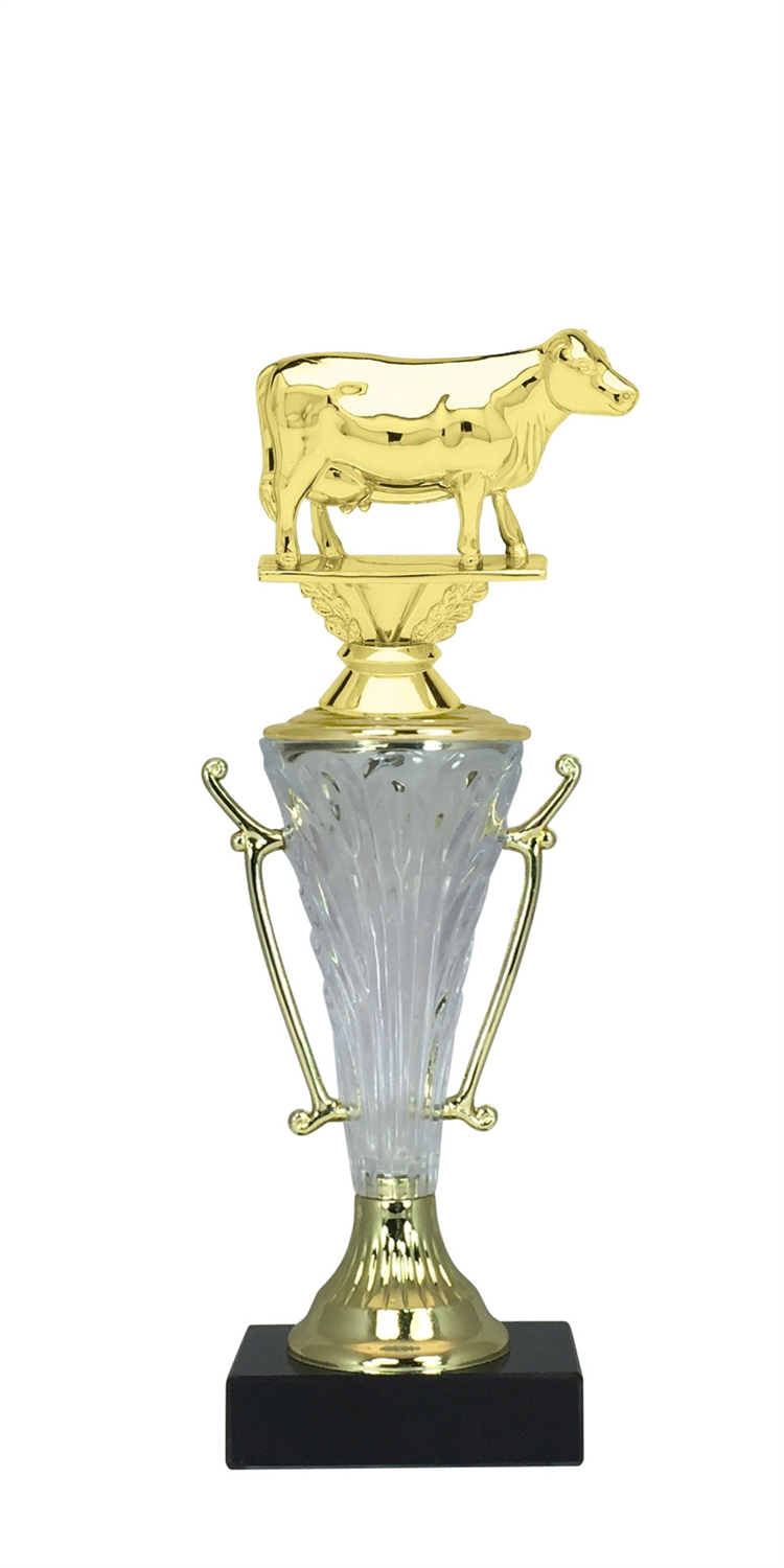 Cow Trophy Cup on Marble Base in (2 - Sizes)