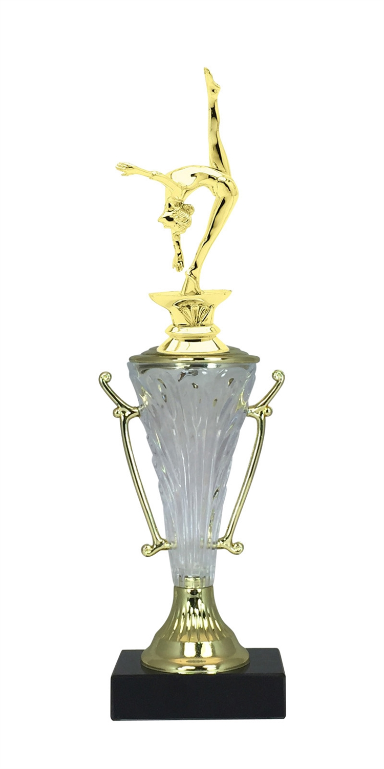 Female Gymnastics Trophy Cup on Marble Base in (2 - Sizes)