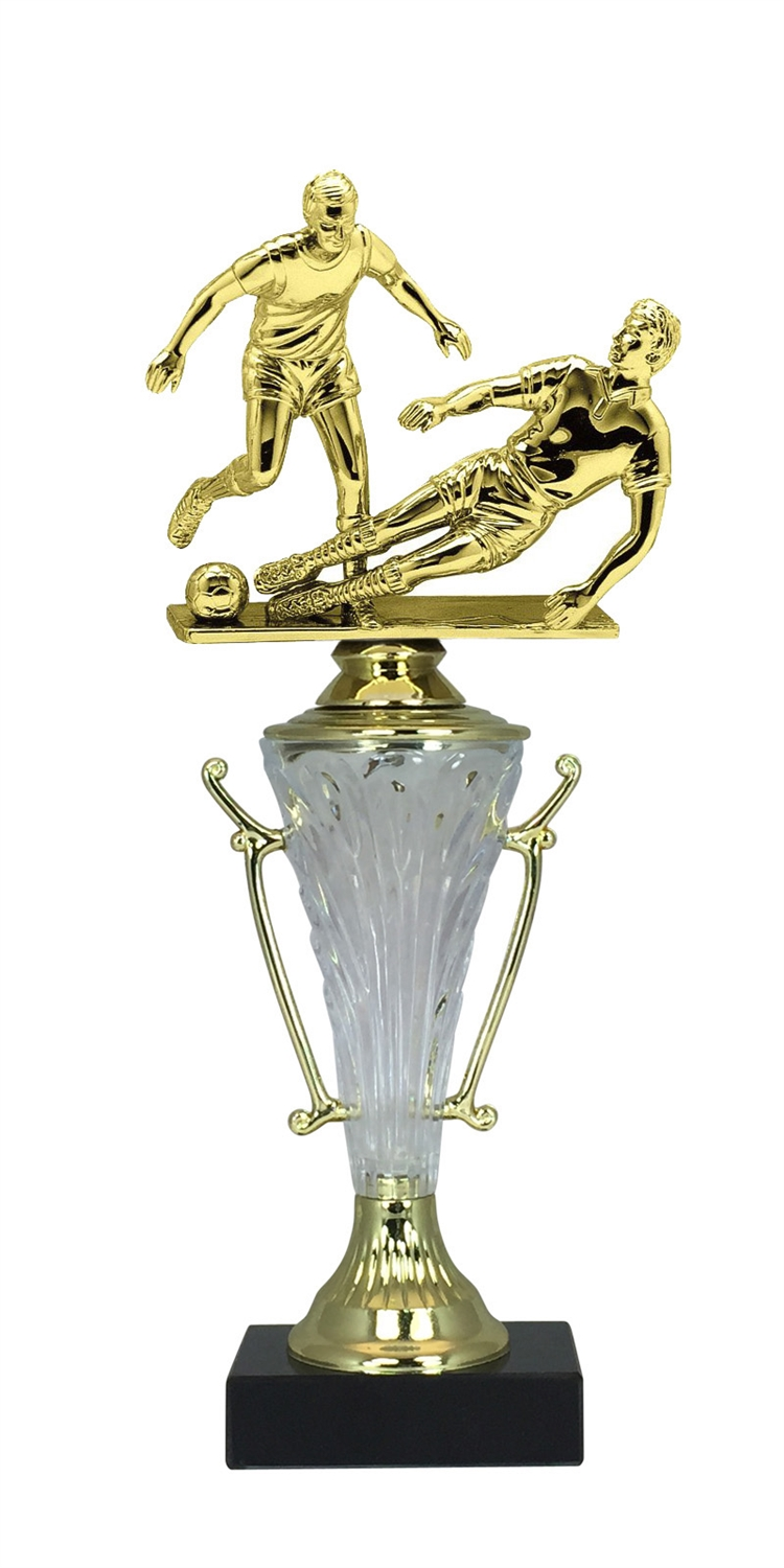Boys Soccer Trophy Cup on Marble Base in (2 - Sizes)