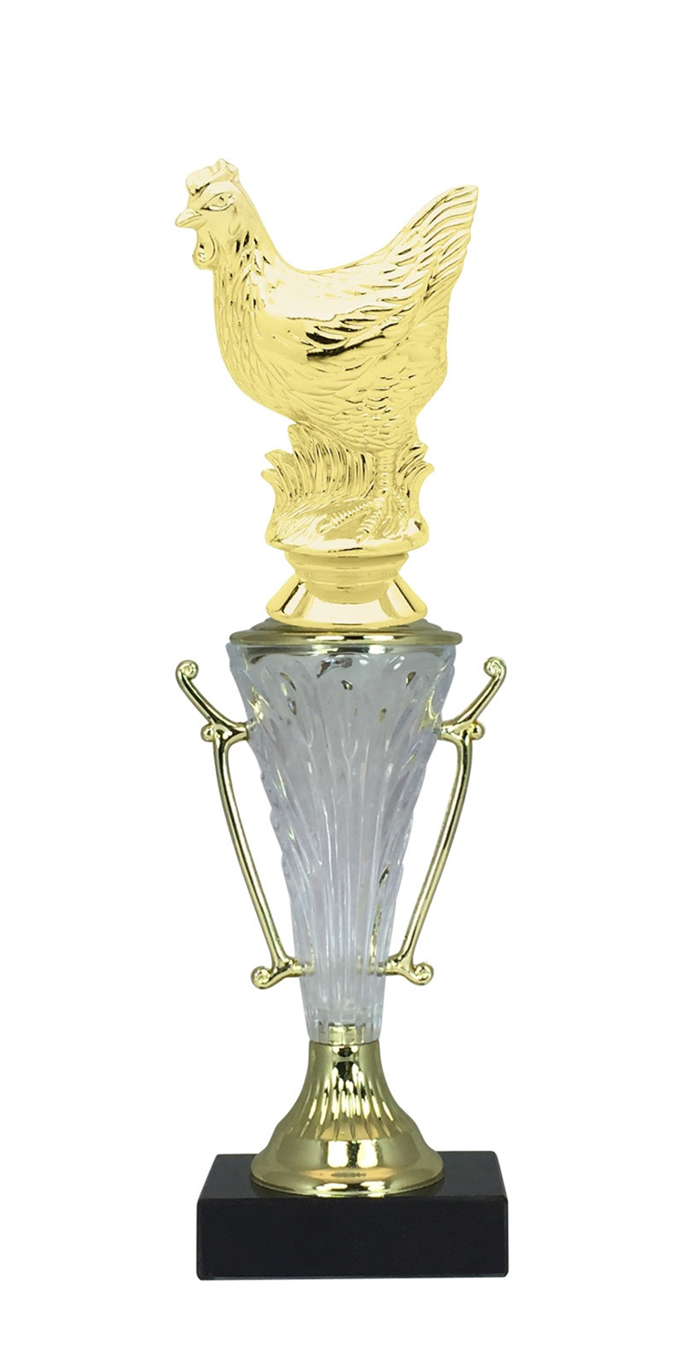 Hen Trophy Cup on Marble Base in (2 - Sizes)