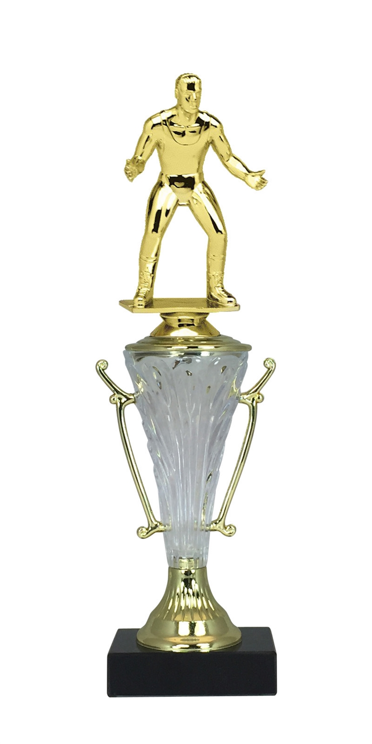 Wrestling Trophy Cup on Marble Base in (2 - Sizes)