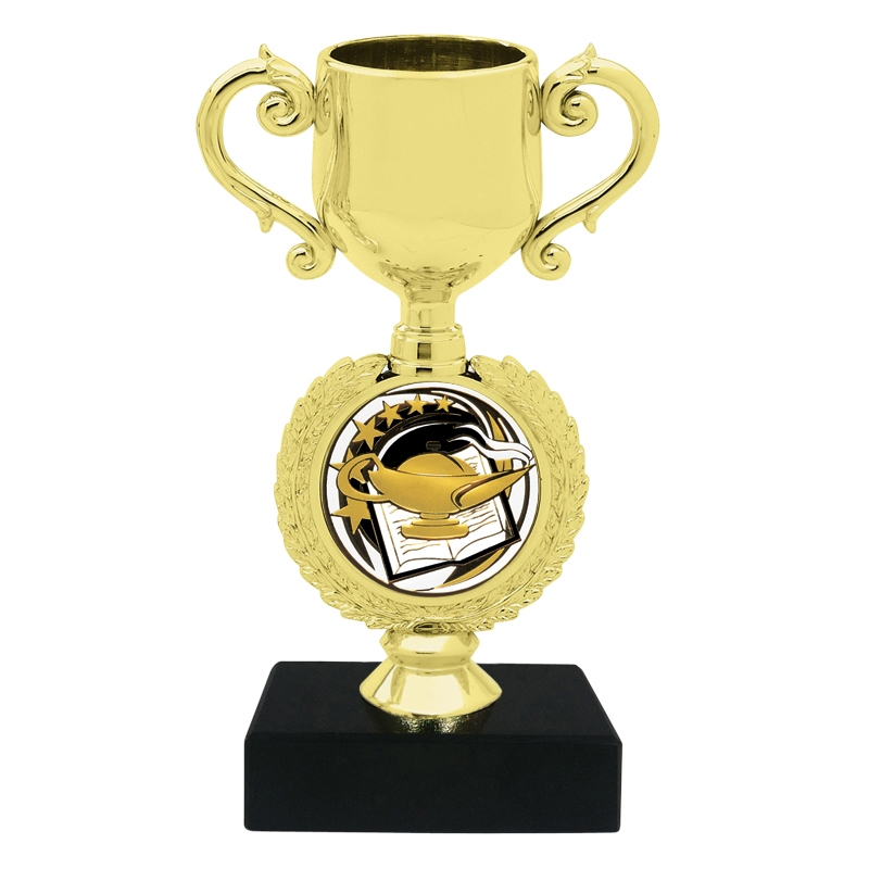 Book & Lamp Insert Trophy Cup