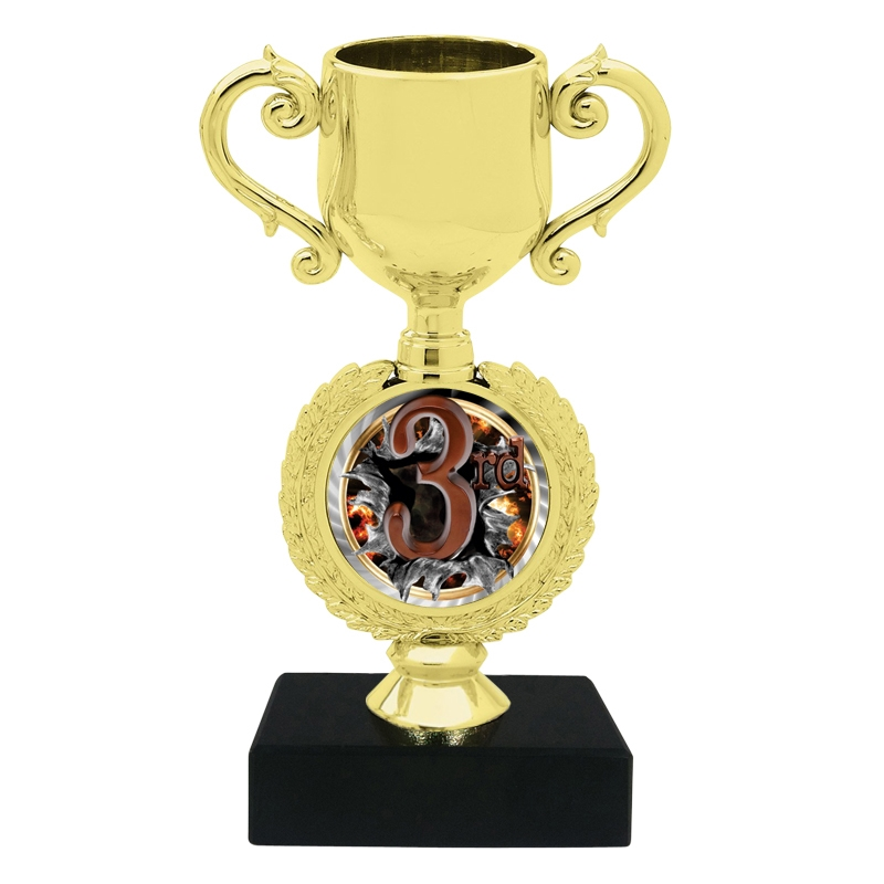 Burst 3rd Place Trophy Cup Cheap Trophy Express Medals