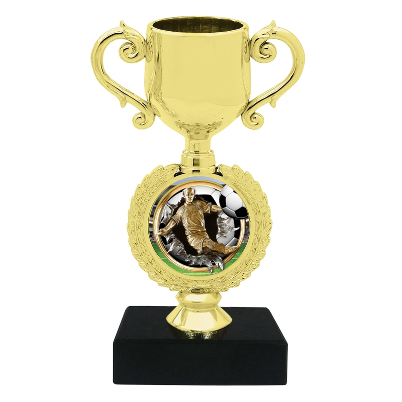 Burst Male Soccer Trophy Cup