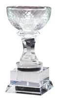 "7"" Optical Crystal Aspire Cup Award Trophy"
