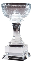 "7-1/2"" Optical Crystal Aspire Cup Award Trophy"