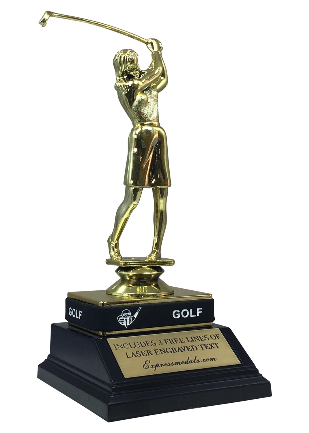 Female Golf Trophy with Wrist Band