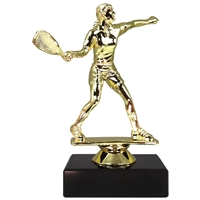 Male Raquetball Figure on Marble Base Trophy