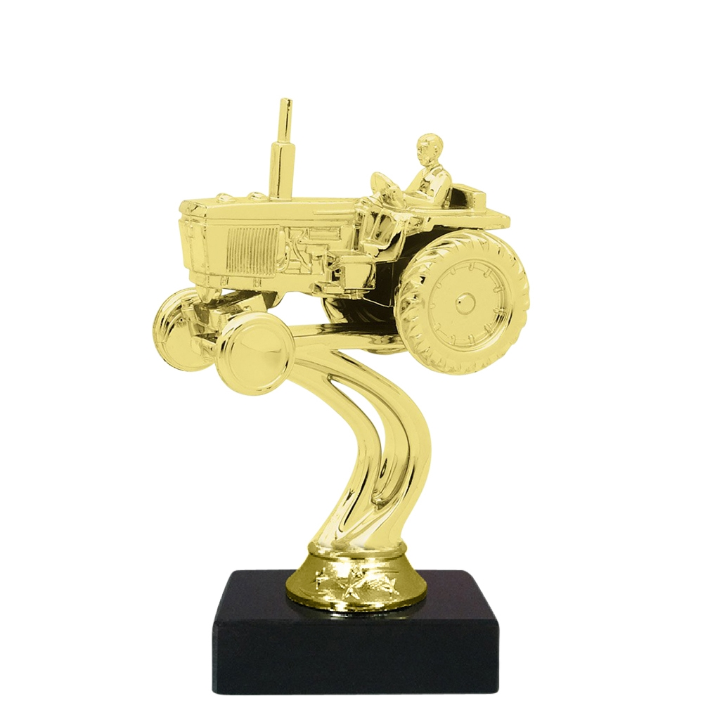 Tractor Figure on Marble Base Trophy