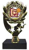 "6-1/4"" Sunburst Basketball Insert Sport Wreath Trophy"