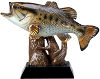 "7-3/4""L x 5-1/2""H BASS Fishing Trophy"