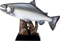 "9-1/2""L x 6-1/4""H SALMON Fishing Trophy"