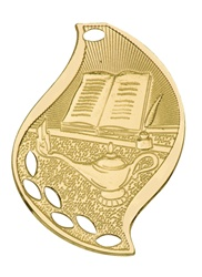 "2-1/4"" Flame Series Lamp of Knowledge Medal FM208"