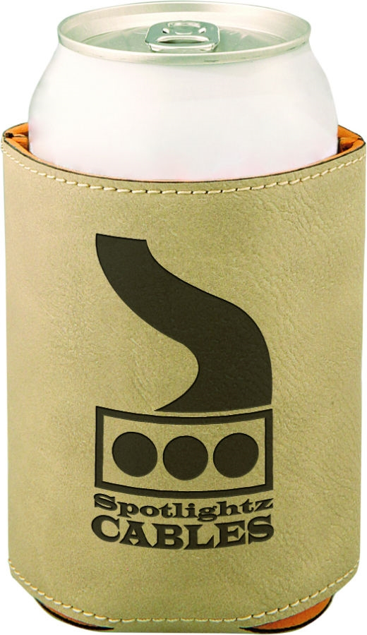 Light Brown Leatherette Beverage Holder