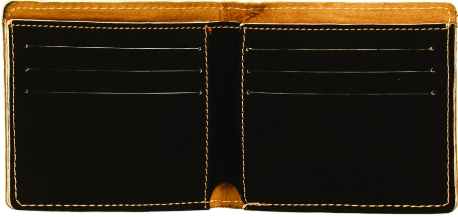 Personalized Black Bifold Wallet