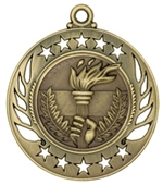 "2-1/4"" Galaxy Victory Torch Medal GM110"