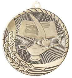 "2"" Economy Lamp of Knowledge Medal M1212"