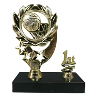 "1st - 5th Place 6"" Sport Wreath Basketball Trophy"