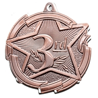"2-3/8"" Star 3rd Place Medal MD1723"