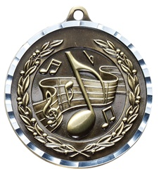 "2"" PREMIUM Diamond-Cut Music Medals MDC24"