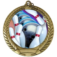 "2-3/4"" Full Color Series Bowling Medal MM292-FCL-14"