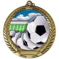 "2-3/4"" Full Color Series Soccer Ball Medal MM292-FCL-40"