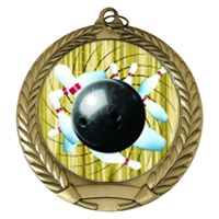 "2-3/4"" Bowling Holographic Mylar Medal MM292-FCL-426"