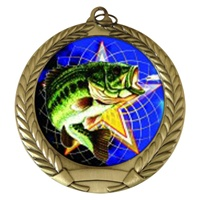 "2-3/4"" Fishing Holographic Mylar Medal MM292-FCL-470"