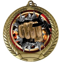 "2-3/4"" BURST Insert Martial Arts Medal MM292-FCL-766"