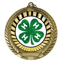 "2-3/4"" 4-H SUNBURST Mylar Medal MM292-MY354"