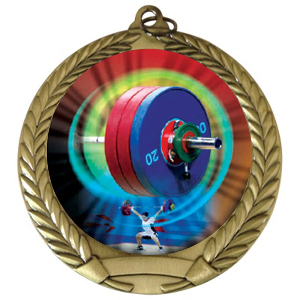 "2-3/4"" Weight Lifting Medal"