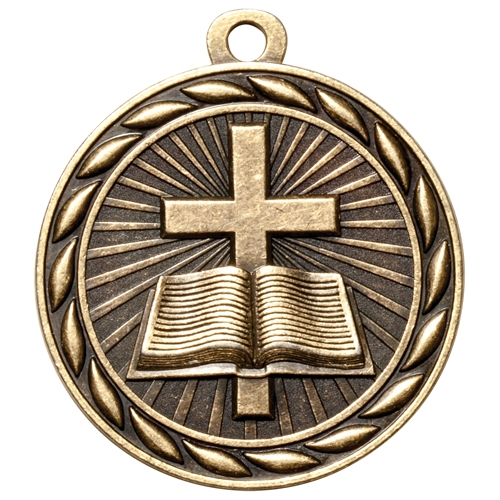 "2"" Scholastic Religion Medal MS304"