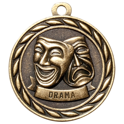 "2"" Scholastic Drama Medal MS306"
