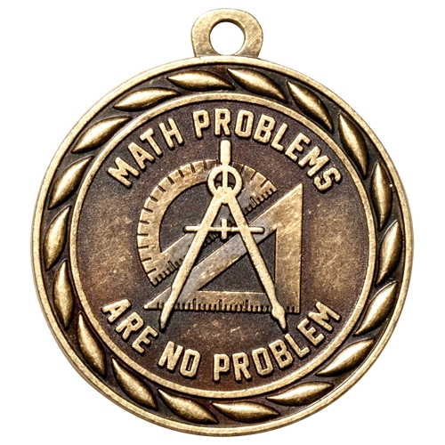"2"" Scholastic Math Problems Are No Problem Medal MS315"