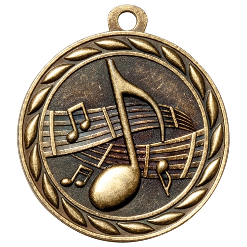 "2"" Scholastic Music Medal MS318"