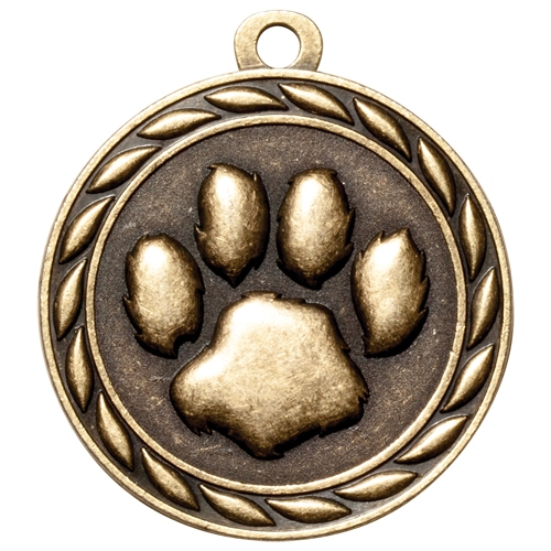 "2"" Scholastic Paw Print Medal MS321"